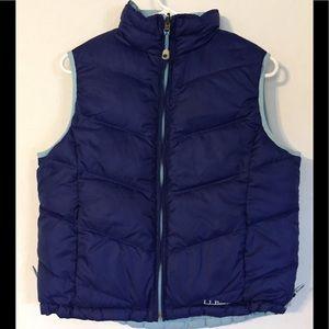 LL Bean Women's Goose Down Reversible Vest Medium